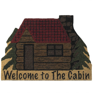 "Coir 29"" x 21.5"" Doormat - Welcome to the Cabin"