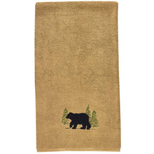 Embroidered Black Bear Terry Bath, Hand or Fingertip Towel