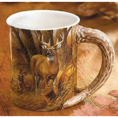 Rustic Retreat – Whitetail Deer Sculpted Coffee Mug