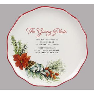 Christmas Holiday Traditions Ceramic The Giving Plate