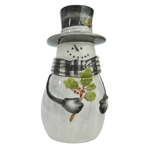 Sketchbook Snowman Ceramic Cookie Jar