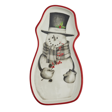 Sketchbook Snowman Ceramic Spoon Rest