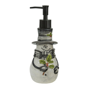 Sketchbook Snowman Ceramic Soap Dispenser