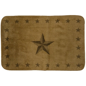 "Star Rug, 24""X36"", Light Chocolate"