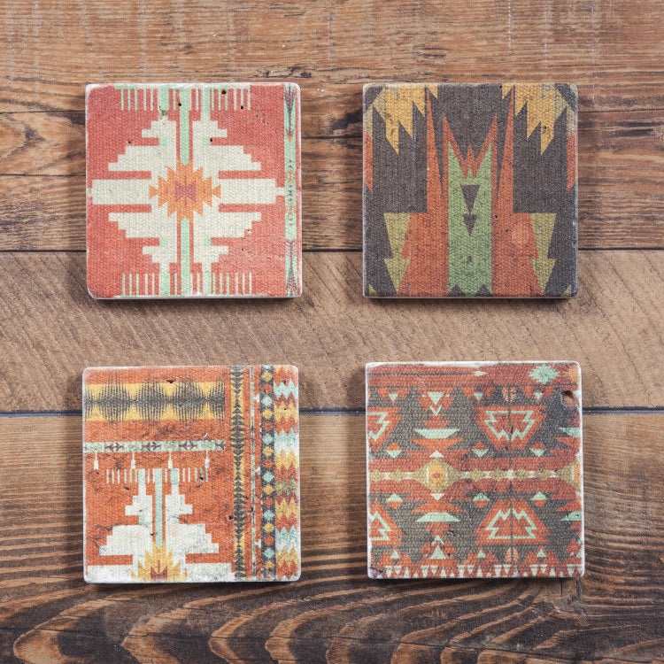 Aztec Coasters, Set of 4 Pcs