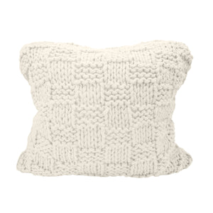 Chess Knit Euro Sham, 27x27 Natural
