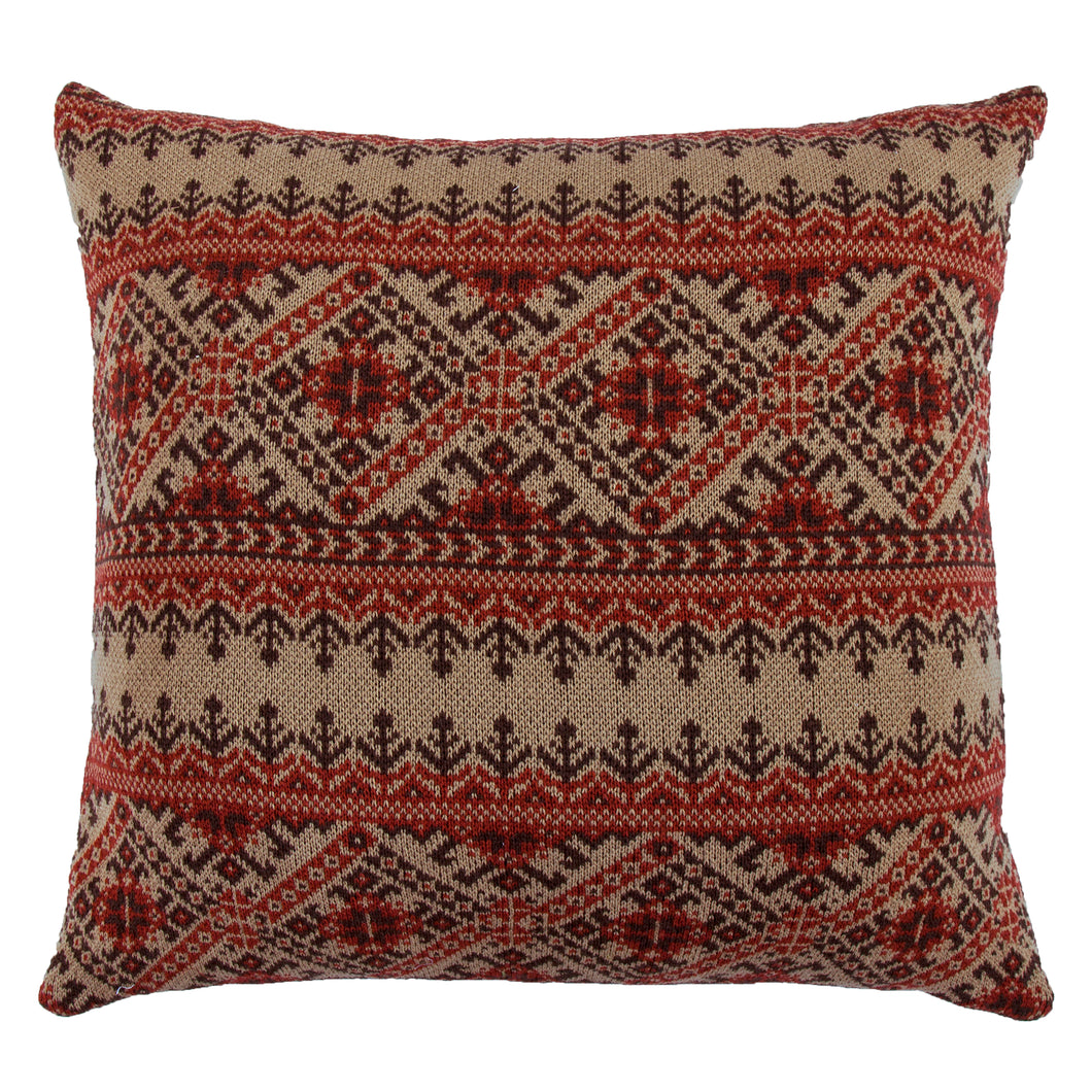 Lodge Fair Isle knit Euro, 26x26