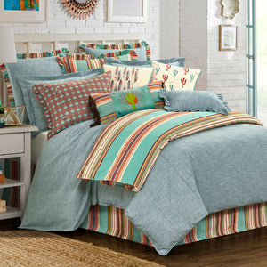3-PC Chambray Comforter Set, Full