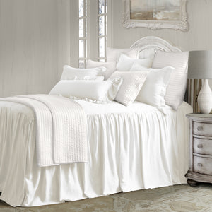 3 Pc Luna Bedspread Set, Super Queen White
