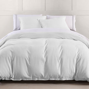 Hera Linen Duvet, Super Queen Gray