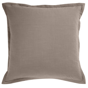 Solid Taupe Linen Euro Sham , 27x27