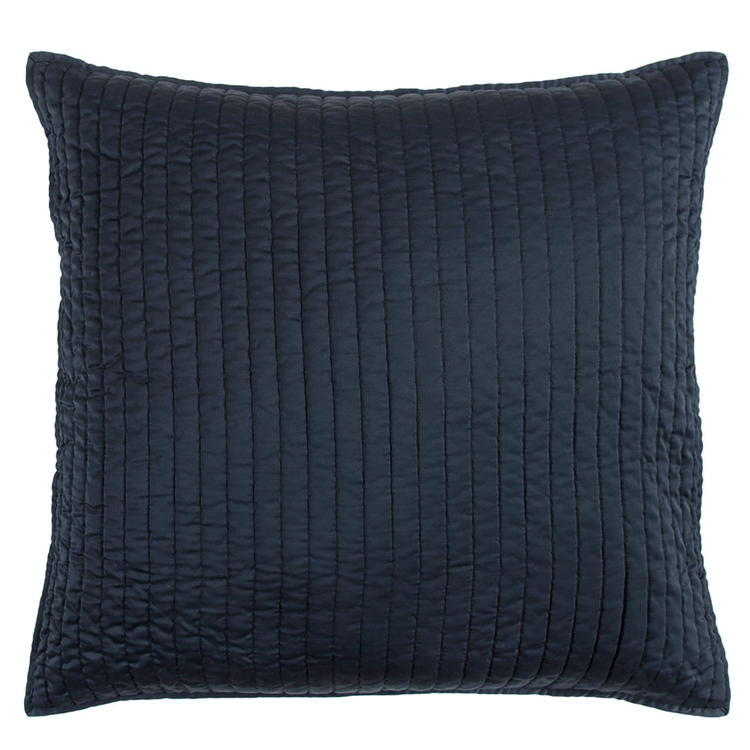 Satin Quilted Euro Sham Blue