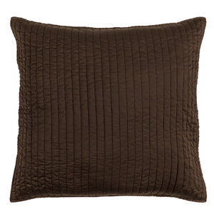 Satin Quilted Euro Sham Chocolate
