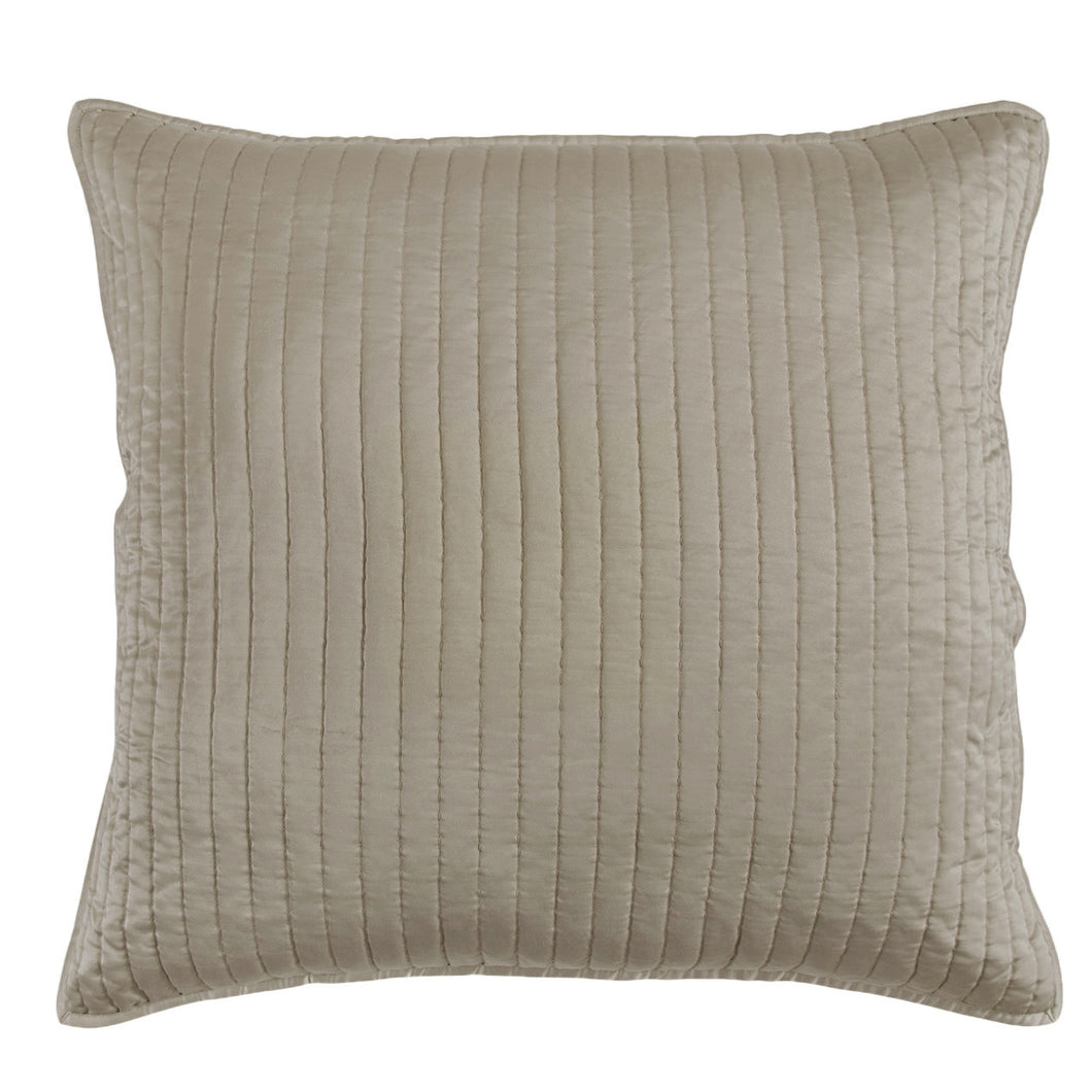 Satin Quilted Euro Sham Taupe