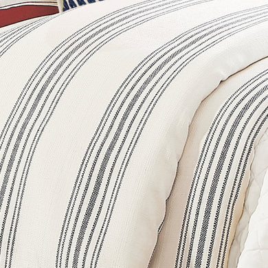 1 pc Prescott Stripe Duvet, Super Queen Navy