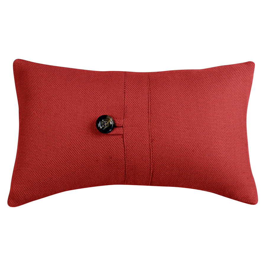 Prescott Small Red Pillow, 10x17