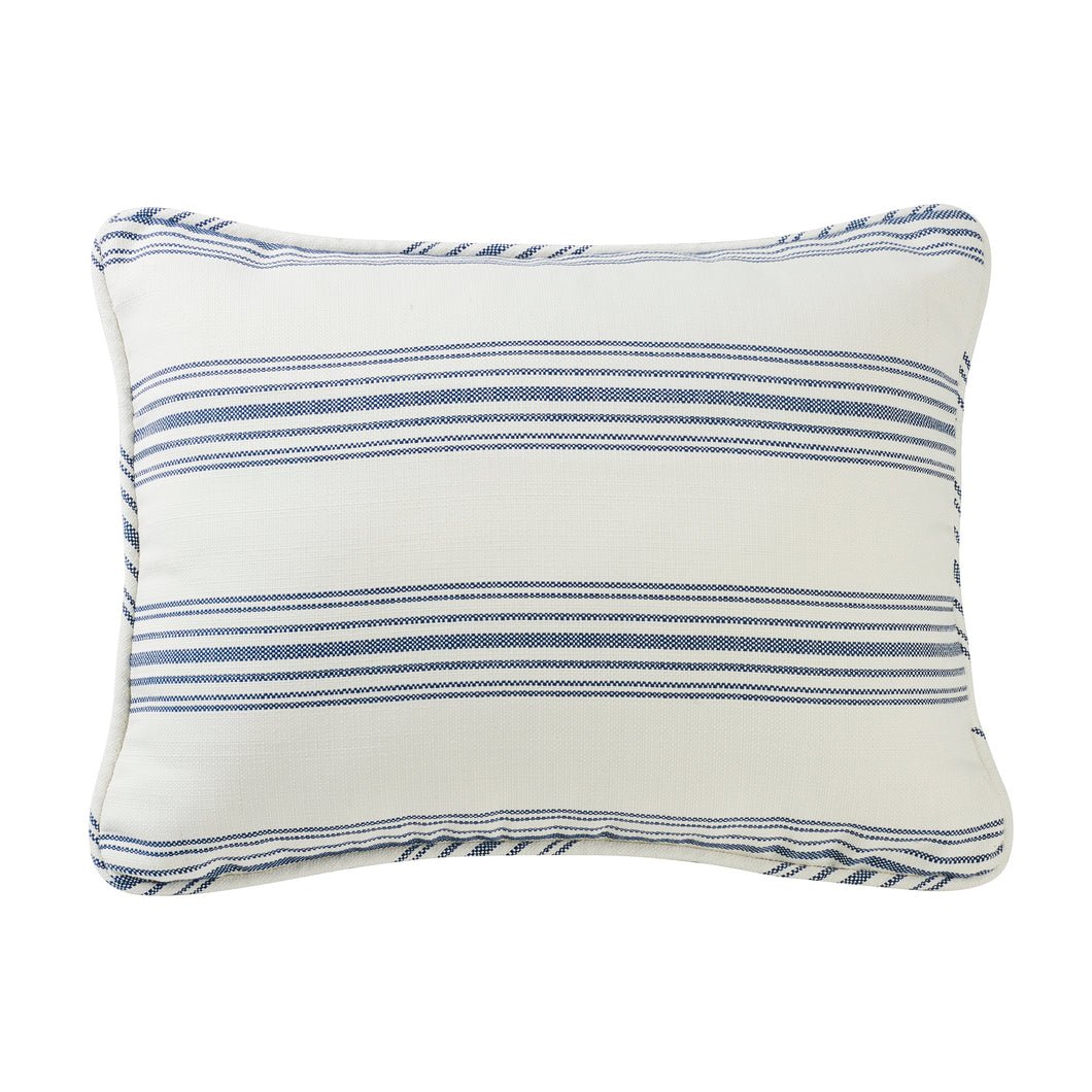 Prescott Stripe Pillow Sham, King Navy, Pair