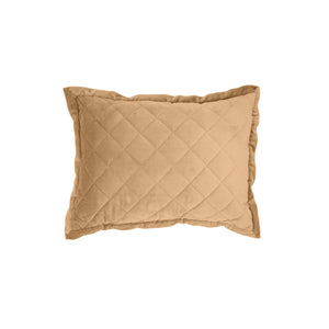 Velvet Quilted Boudoir Pillow, 12x16 Gold