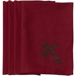 Cross Napkin Red (Set of 4)