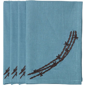 Barbwire Napkin Turquoise (Set of 4)