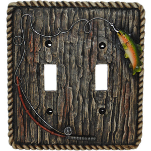 Rainbow Trout Double Switch Plate