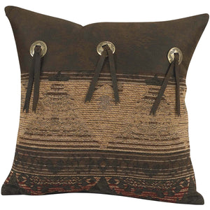 "Sierra Square Pillow/Concho, 16""X16"""