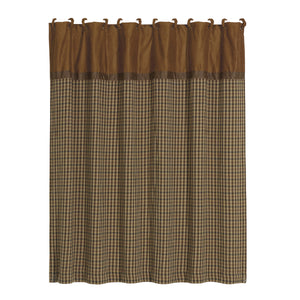 "Crestwood Houndstooth Shower Curtain, 72""X72"""