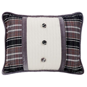 Oblong Pillow with Covered Button, 16x21""