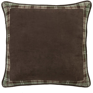 Huntsman Bufflo Check Reversed to Plaid Framed Euro Sham, 27x27