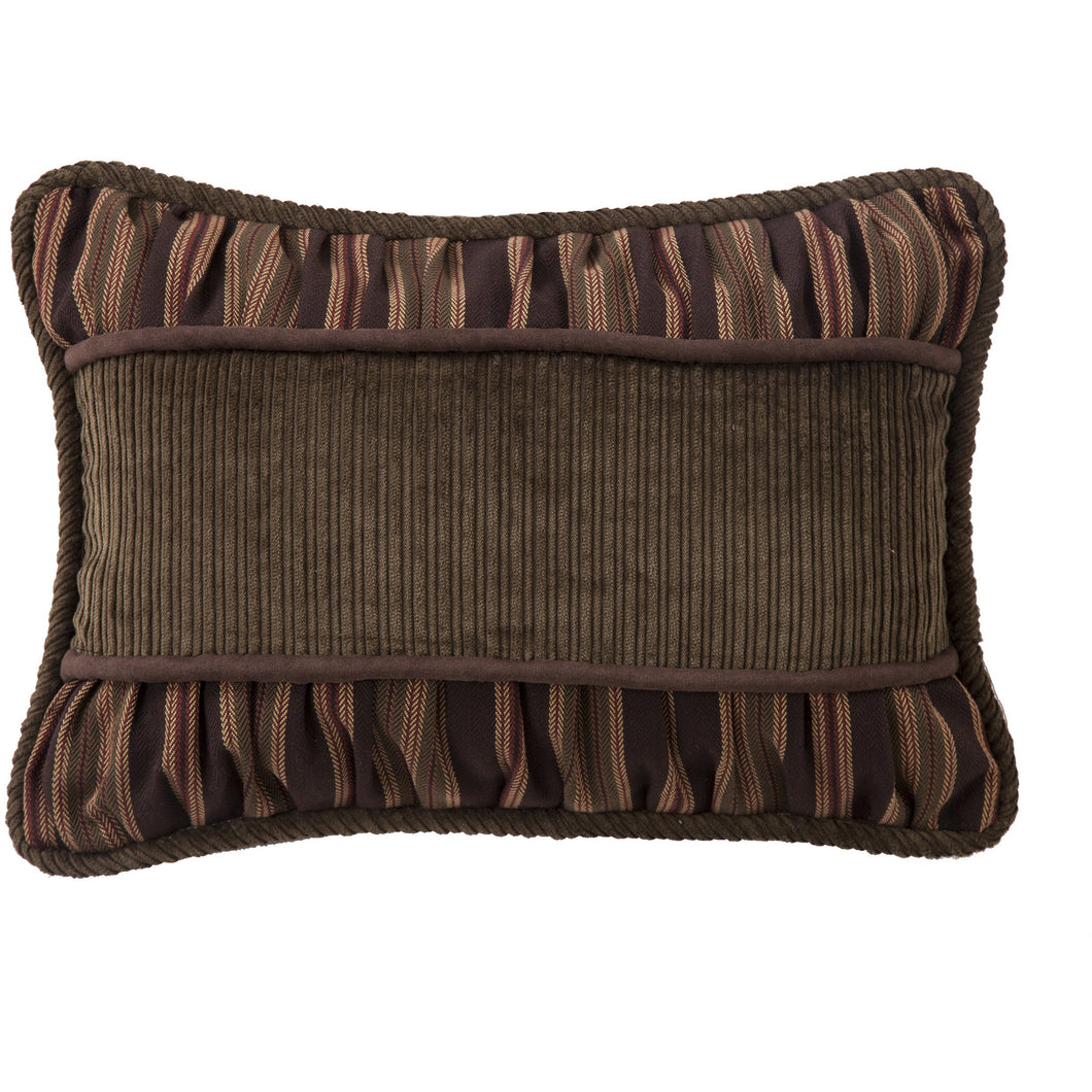 Corduroy Pillow with Rouching Details, 14x20