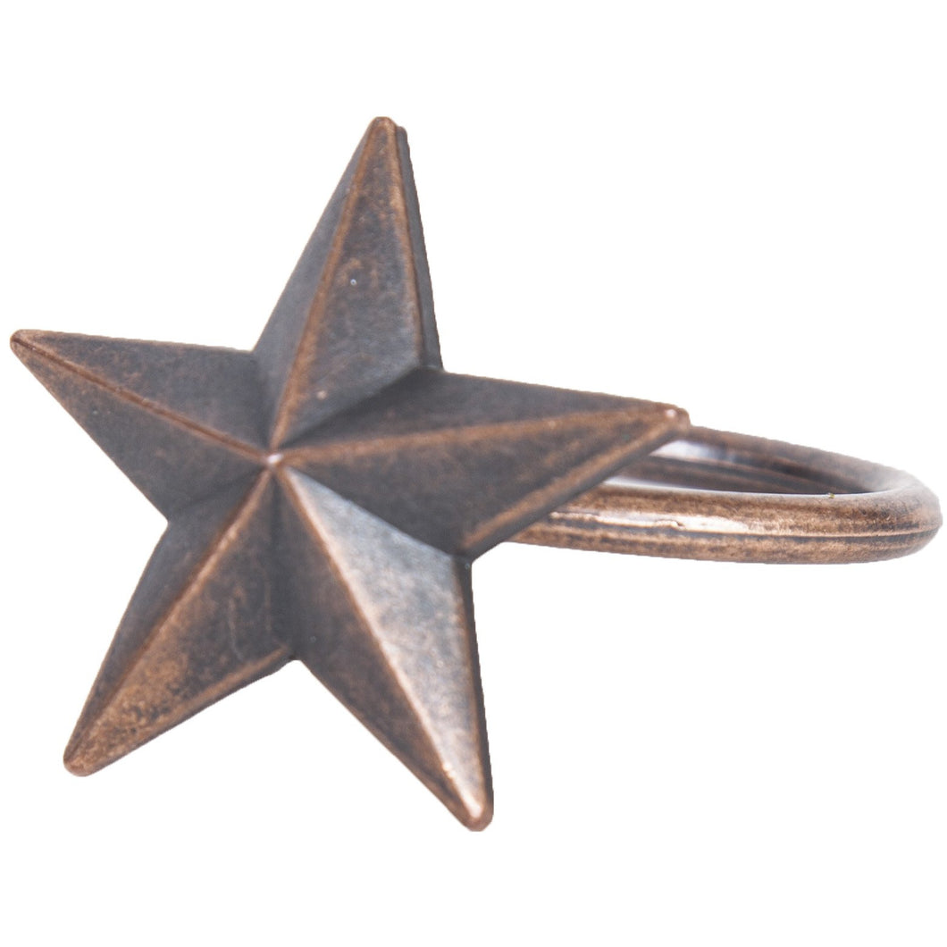 Star Design Napkin Rings, set of 6
