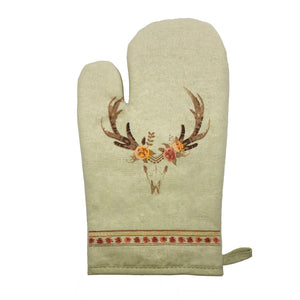 5-Pc Skull/Floral Printed Oven Mitts