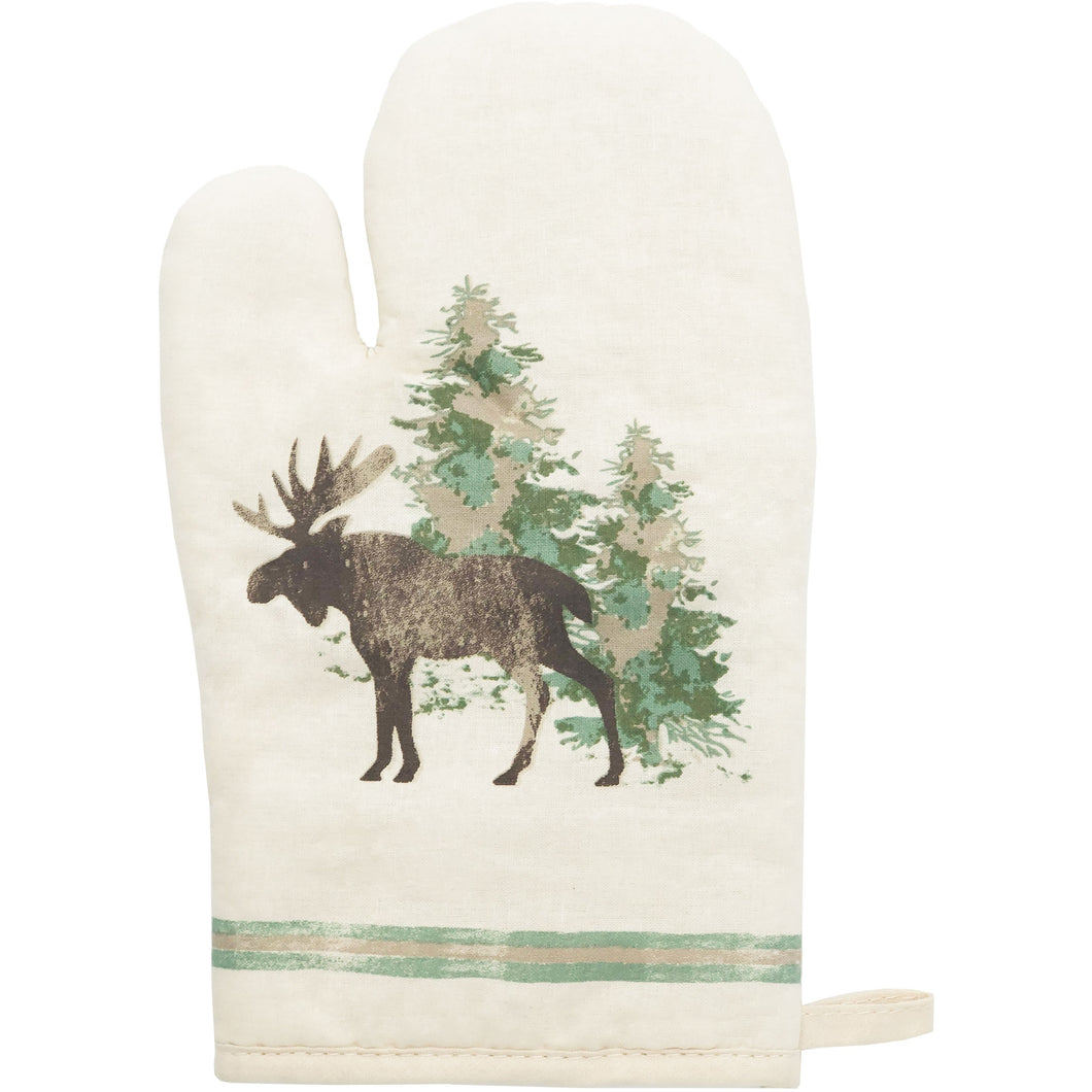 5 PC Scenery Tree Printed Oven Mitts