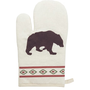5 PC Aztec Bear Printed Oven Mitts