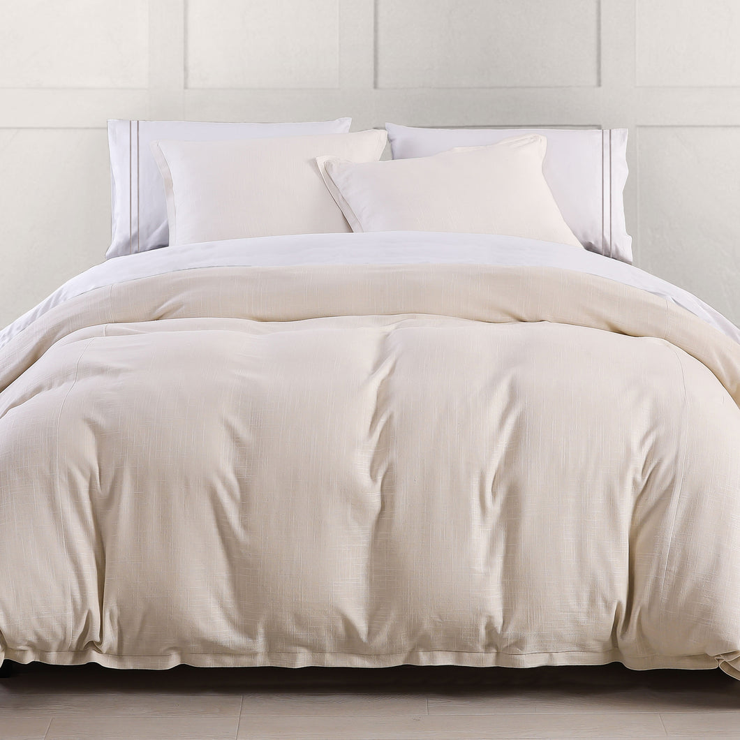 3PC Hera Duvet Set, King Lt. Tan