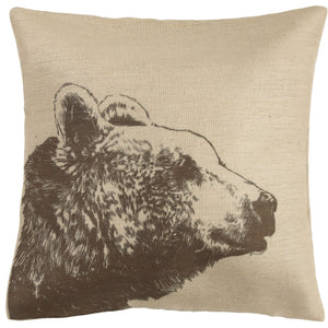 Bear Burlap Pillow, 22x22
