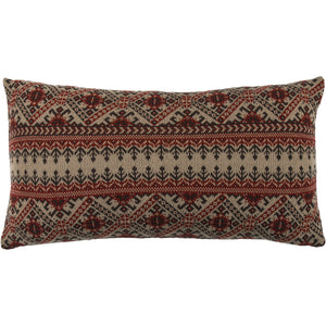 Lodge Fair Isle knit body pillow, 21x35