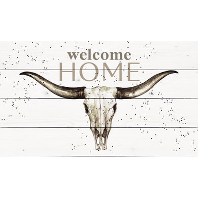 Welcome Home Longhorn Skull Pallet Décor