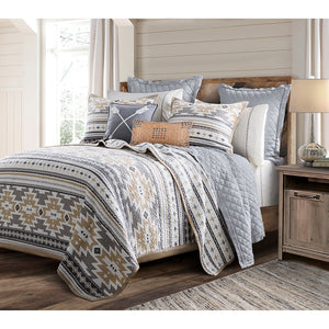3 PC Desert Sage Quilt Set, Full/Queen