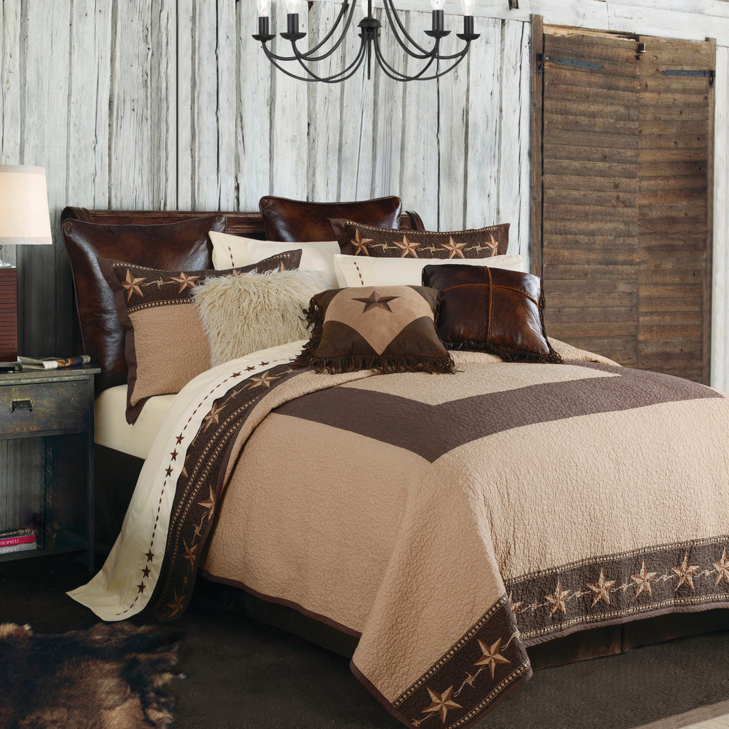 3-PC Star Ranch Quilt Set, King