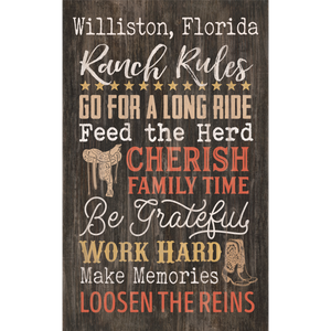 (Insert) Ranch Rules Pallet Wall Decor