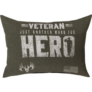 "Veteran Another Word For Hero Pillow - 18"" X 13"""