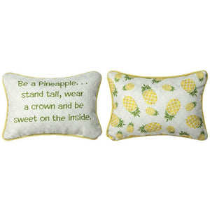 "Be A Pineapple Word Pillow - 12.5"" X 8"""