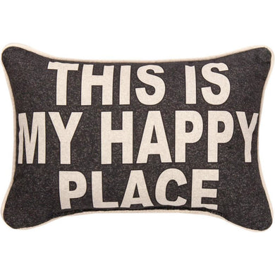 This is My Happy Place Word Pillow - 12.5