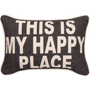 "This is My Happy Place Word Pillow - 12.5"" X 8"""