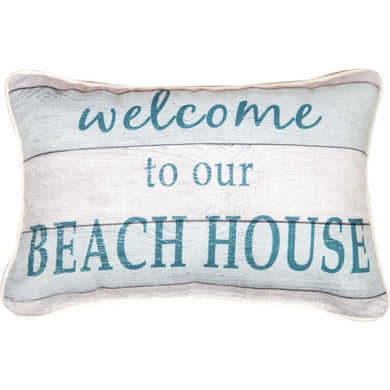 Welcome to our Beach House Word Pillow - 12.5
