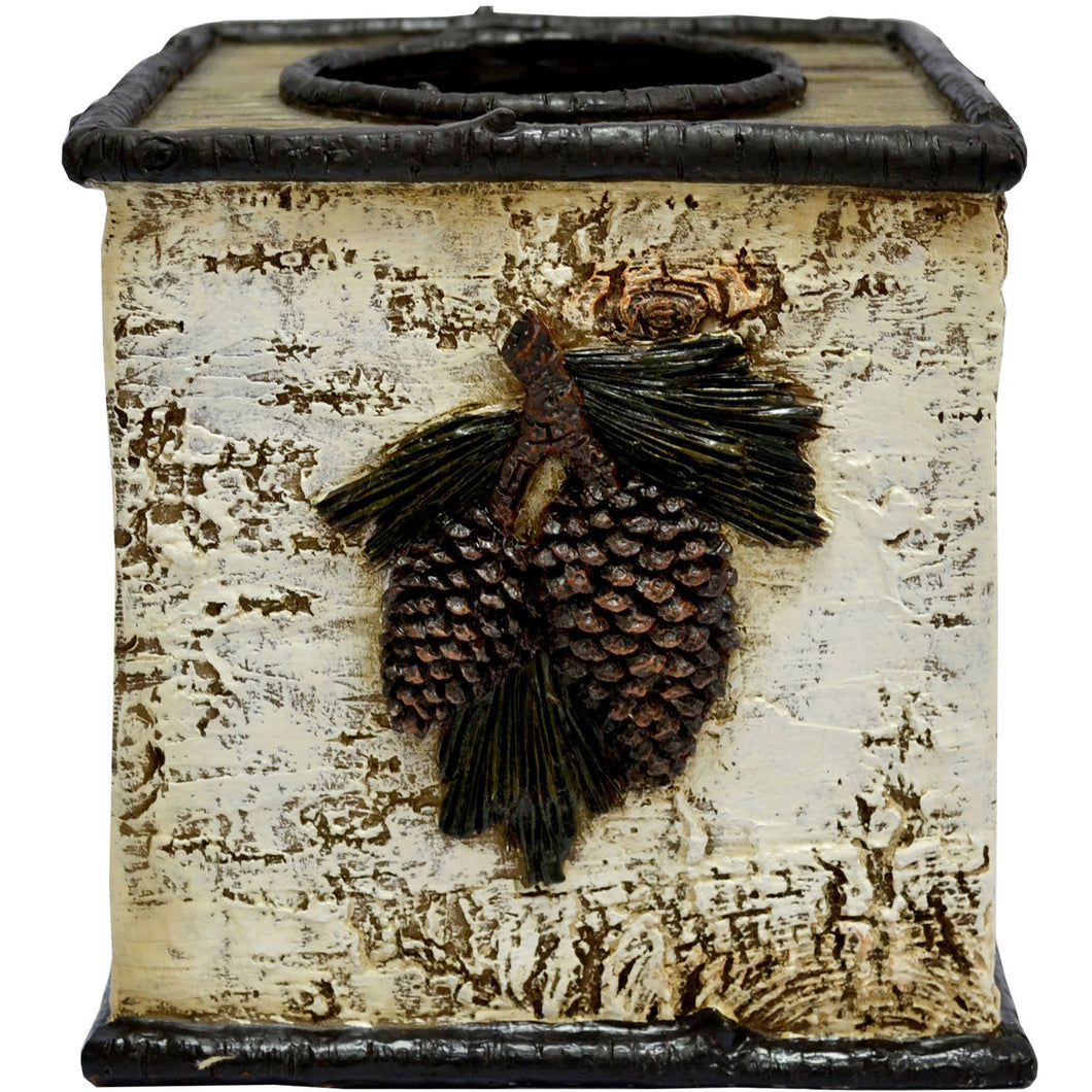 Birch Pinecone Tissue Box
