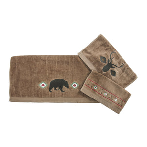Aztec Bear Towel Set Mocha