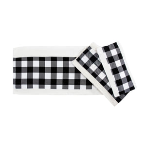 Camille Black Buffalo Check Towels Set