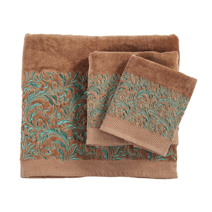 Wyatt 3 PC Bath Towel Set - Mocha